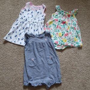 Bundle of Infant Girl's Dresses & Romper